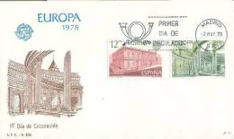 SPAIN  1978  EUROPA CEPT FDC - Europa-CEPT