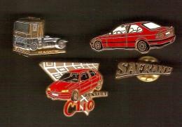 4 Pin´s Automobile - Arthus Bertrand - Badges