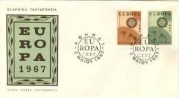 GREECE  1967 EUROPA CEPT   FDC - Europa-CEPT