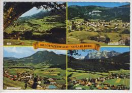 BREGENZERWALD - Mehrbildkarte M. Egg, Andelsbuch, Schwarzenberg, Bezau, Luftaufnahmen - Bregenzerwaldorte