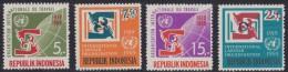 1455. Indonesia, 1969, ILO, MNH (**) (Michel 626/629) - Indonésie