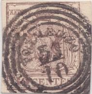 SI53D Italia Italy Antichi Stati ASI Lombardo Veneto 30 C.1850 Annullo Quattro  Cerchi Di TOLMEZZO - Romagne