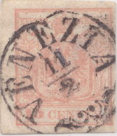 SI53D Italia Italy Antichi Stati ASI Lombardo Veneto 15 C.1850 Annullo  Di VENEZIA - Lombardo-Veneto