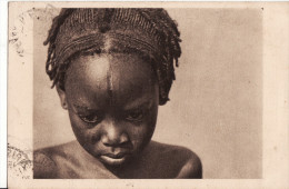OUBANGUI CHARI - Petite Fille SARA KABA de la tribu des Femmes � Plateaux - 1931