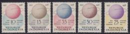 1458. Indonesia, 1958, Geophysical Year, MNH (**) (Michel 224/228) - Indonésie