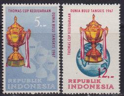 1461. Indonesia, 1967, Badminton World Championship, MNH (**) (Michel 581/582) - Indonésie