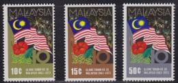 1468(1). Malaysia, 1973, 10 Years Since The Establishment Of Malaysia, MNH (**) (Michel 104/106) - Malaysia (1964-...)