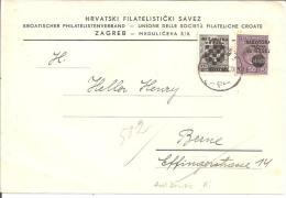 Kroation XX001 / Überdruck-Provisorien Von 1941 Auf Brief (Drucksache) In Die Schweiz - Kroatien