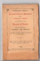 Cornish Church Kalendar .....  Truro  , ( Cornouaille Anglaise , Envoi G. H. Doble Au Vicomte De La Messelière, Saints . - Livres, BD, Revues