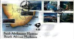 RSA, 1993, Mint First Day Cover, Nr. 5-22, Harbours, SACCnr(s) - FDC