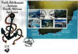 RSA, 1993, Mint First Day Cover, Nr. S-19, Harbours Block Ms22, SACCnr(s) - FDC