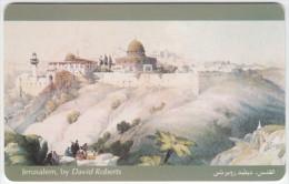 JORDAN A-490 Chip JPP - Painting, View, Jerusalem - used