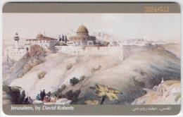 JORDAN A-491 Chip JPP - Painting, View, Jerusalem - used