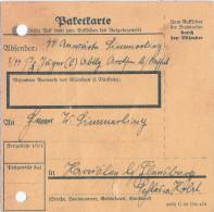 SS Feldpost Paketkarte AROLSEN SS Verfügungstruppe 3. Panzerjäger Nach Harrislee über Flensburg - Briefe U. Dokumente
