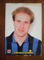 Karl Heinz Rummenigge INTER Football Player Carte Postale - Soccer