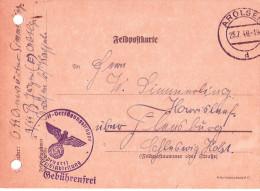 SS Feldpost Datumstempel 25.7.1940 AROLSEN SS Verfügungstruppe 3. Panzerjäger Truppenarzt  Nach Harrislee über Flensburg - Cartas
