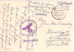 SS Feldpost Datumstempel 18.5.1940 AROLSEN SS Verfügungstruppe 3. Panzerjäger Truppenarzt  Nach Harrislee über Flensburg - Allemagne
