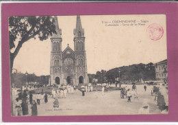 COCHINCHINE .- SAÏGON . Cathédrale - Sortie De La Messe - Viêt-Nam