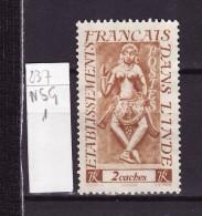 Inde Française - India - Indien 1948 Y&T N°237 - Michel N°282 Nsg - 2c Apsara - India (1892-1954)