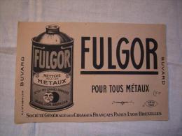 Buvard Publicitaire Fulgor Pour Tous Métaux Bruxelles - Buvards, Protège-cahiers Illustrés