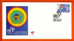 RSA, 1995, Mint First Day Cover Nr. 6-25, United Nations, SACCnr(s) - FDC