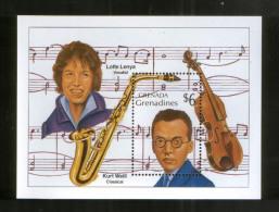Grenada /Grenadinen Block 179 ** Musik , Kurt Weill + Lotte Lenya - Musik