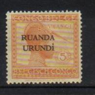 J - RUANDA-URUNDI 50** Timbres du Congo Belge de 1923 (Vloors) surcharg�s Ruanda-Urundi sur 2 lignes. Neufs