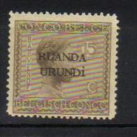 J - RUANDA-URUNDI 52** Timbres du Congo Belge de 1923 (Vloors) surcharg�s Ruanda-Urundi sur 2 lignes. Neufs