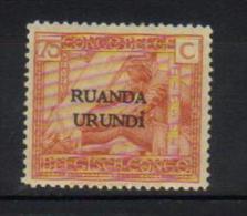 J - RUANDA-URUNDI 57** Timbres du Congo Belge de 1923 (Vloors) surcharg�s Ruanda-Urundi sur 2 lignes. Neufs