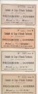 PRIGIONIERI DI GUERRA 1A Guerra Firenze CENT. 5, 10, E LIRE 1 E 2 - Documenti