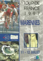 CYCLISME VELO TOUR DE FRANCE 1997 MARENNES  CHARENTE-MARITIME 11-12 JUILLET  VILLE ETAPE - Ciclismo