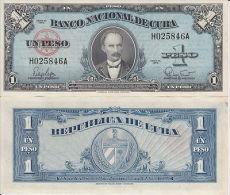 AF36 CUBA UNC UNUSED BANKNOTE 1$ 1960 JOSE MARTI
