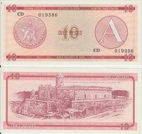 "AF57 CUBA UNC UNUSED BANKNOTE 10$ EXCHANGE CURRENCY \""CERTIFICADO A\"
