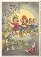 Illustrateur Signé.Gnome.Lutin Et Enfants. - Illustrateurs & Photographes