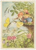 Illustrateur Signé.Gnome.Lutin Et Enfants. Insectes. - Illustrateurs & Photographes