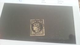 LOT 223997 TIMBRE DE FRANCE OBLITERE N�3 VALEUR 60 EUROS