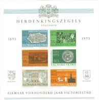 NEDERLAND  1973  Herdenkingszegels Sheet ALKMAAR 400 Jaar VICTORIESTAD 1573-1973  MNH ** Postfris - Erinnofilie