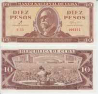 *AF429 CUBA UNC UNCIRCULATED PLACHA 1961 10$. SIGNED ERNESTO CHE GUEVARA