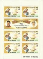 Montserrat 1981 Roy 90c Sheetlet MNH - Montserrat