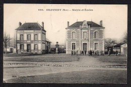 CPA. Dépt.27. GRAVIGNY. Mairie Et Ecoles. - France