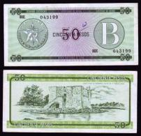 "AF25 CUBA VF BANKNOTE 50$ EXCHANGE CURRENCY CERTIFICATE \""B\ - Cuba"