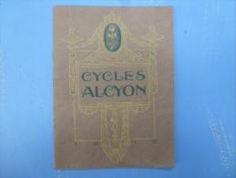 CATALOGUE CYCLES ALCYON 1909, - Publicités