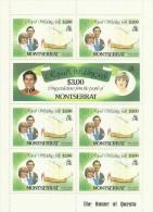 Montserrat 1981 Royal Wedding $ 3.00 Sheetlet MNH - Montserrat