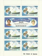 Montserrat 1981 Royal Wedding $ 4.00 Sheetlet MNH - Montserrat
