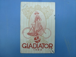 """CATALOGUE  , MANUFACTURE DE CYCLES """" GLADIATOR"""", 1909 - Advertising"""
