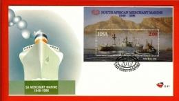 RSA, 1996, Mint First Day Cover Nr. 6-41,  Merchant Marine Block 45,  SACCnr(s) - FDC