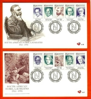 RSA, 1996, Mint First Day Cover Nr. 6-46+6-47, Nobel Prize Winners,  SACCnr(s) - FDC