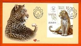 RSA, 1998, Mint First Day Cover Nr. 6-72, SAPDA, Leopard Block 68,  SACCnr(s) - FDC