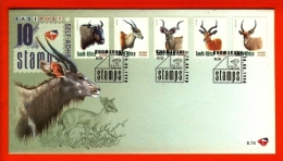 RSA, 1998, Mint First Day Cover Nr. 6-74, Definitives Animals,  SACCnr(s) - FDC