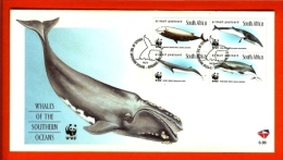 RSA, 1998, Mint First Day Cover Nr. 6-88, Whales  WWF,  SACCnr(s) - FDC